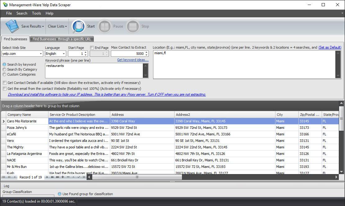 Yelp scraper software - Best Yelp Data Extractor